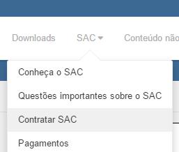 Menu do SAC do ACBr