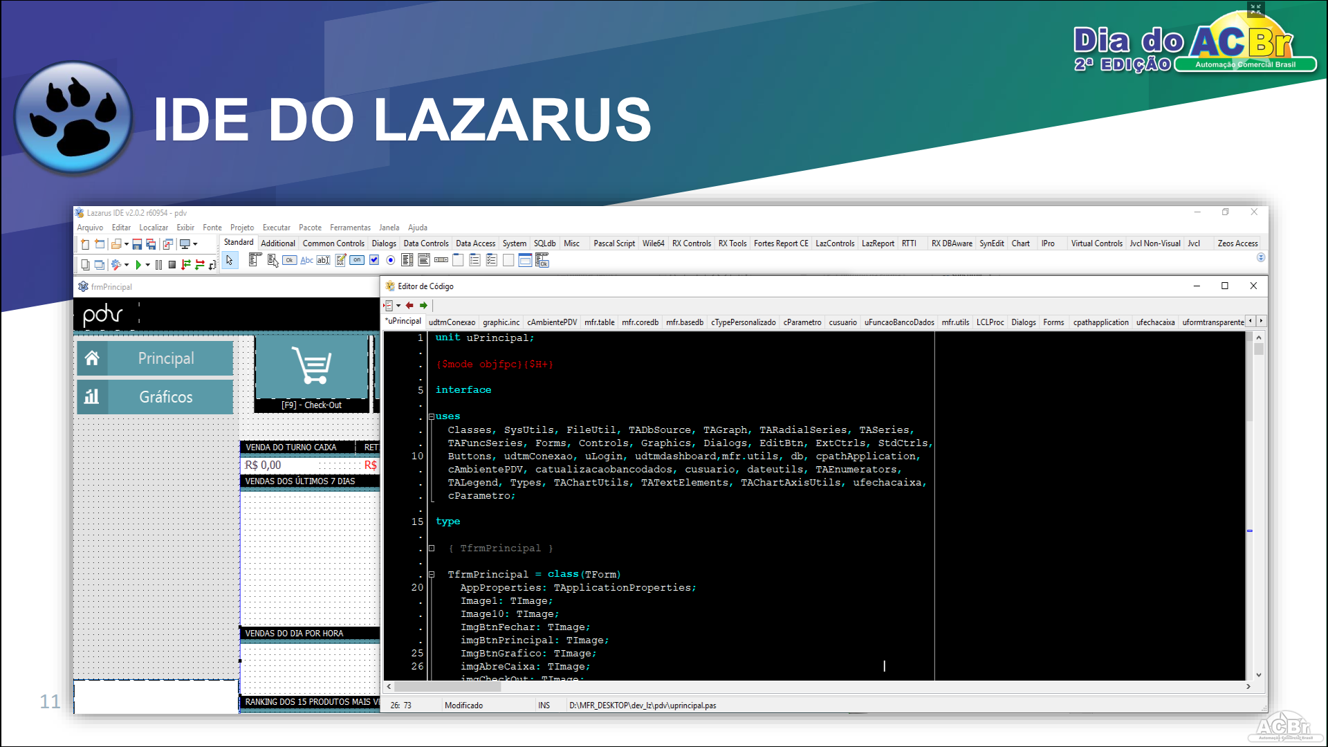 Lazarus 100% Open source