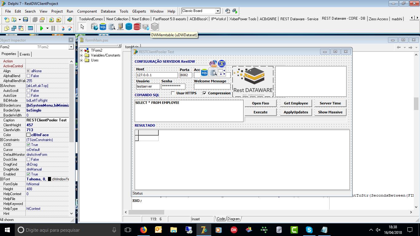 REST Dataware está incrível  - Object Pascal - Delphi